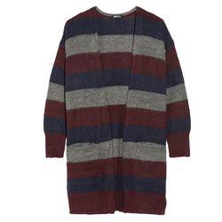 "<b>DKNY</b>, <a href=""http://www.net-a-porter.com/product/466037/DKNY/oversized-striped-knitted-cardigan"">$235</a>"