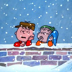 """Charlie Brown and Linus from """"A Charlie Brown Christmas."""""""