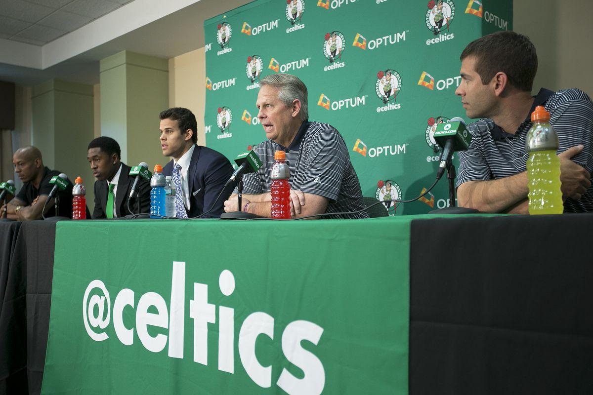 Boston Celtics Introduce Humphries, Brooks, Bogans