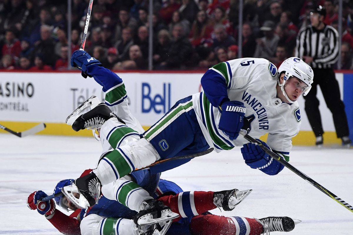 NHL: Vancouver Canucks at Montreal Canadiens