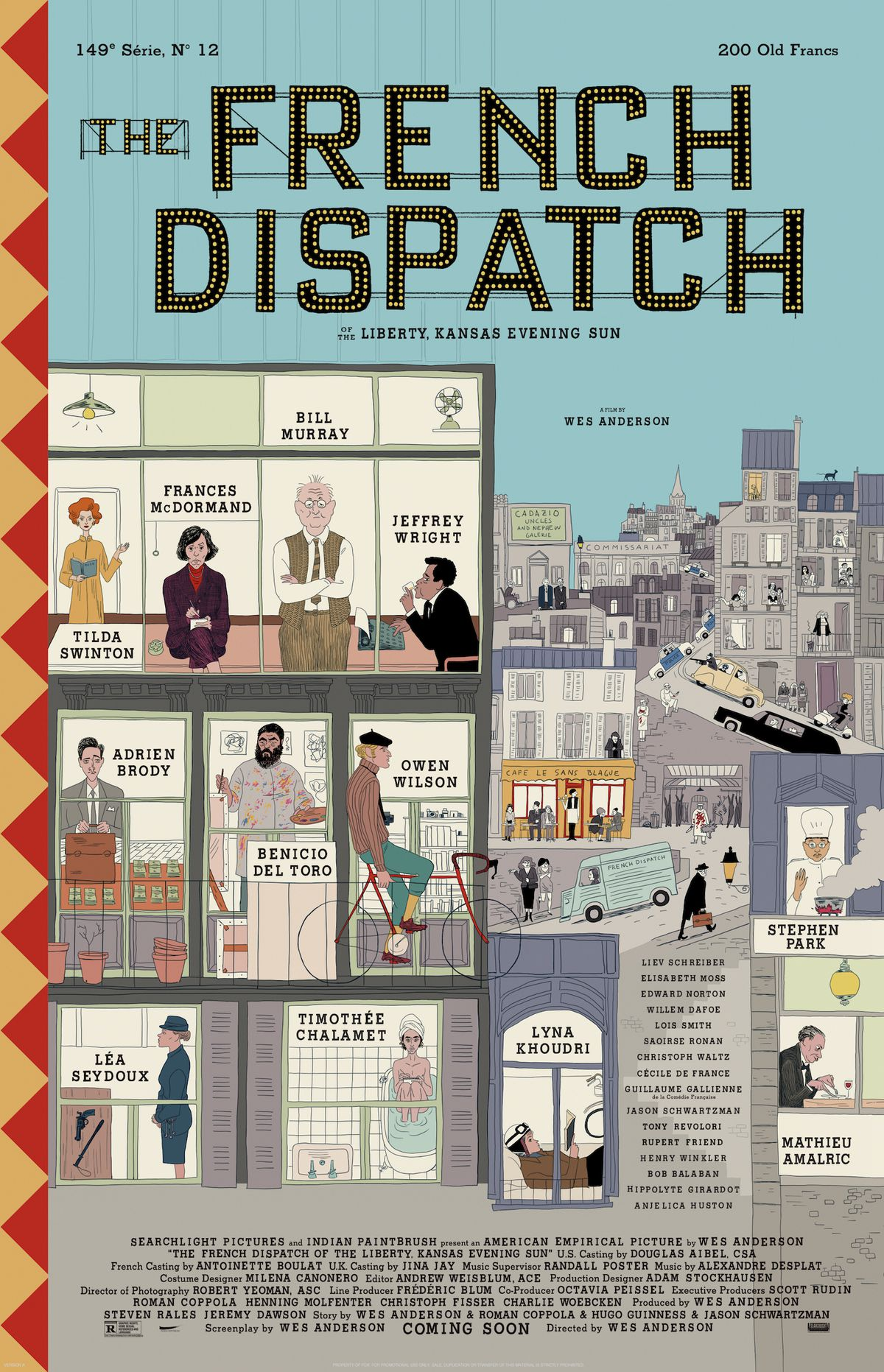 the poster for wes anderson's the french dispatch