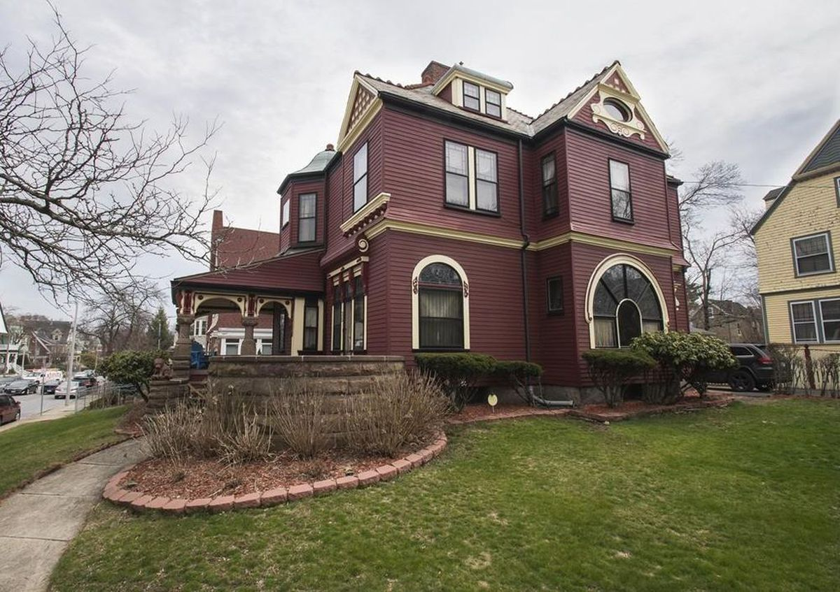 A gorgeous Queen Anne house exterior in Dorchester