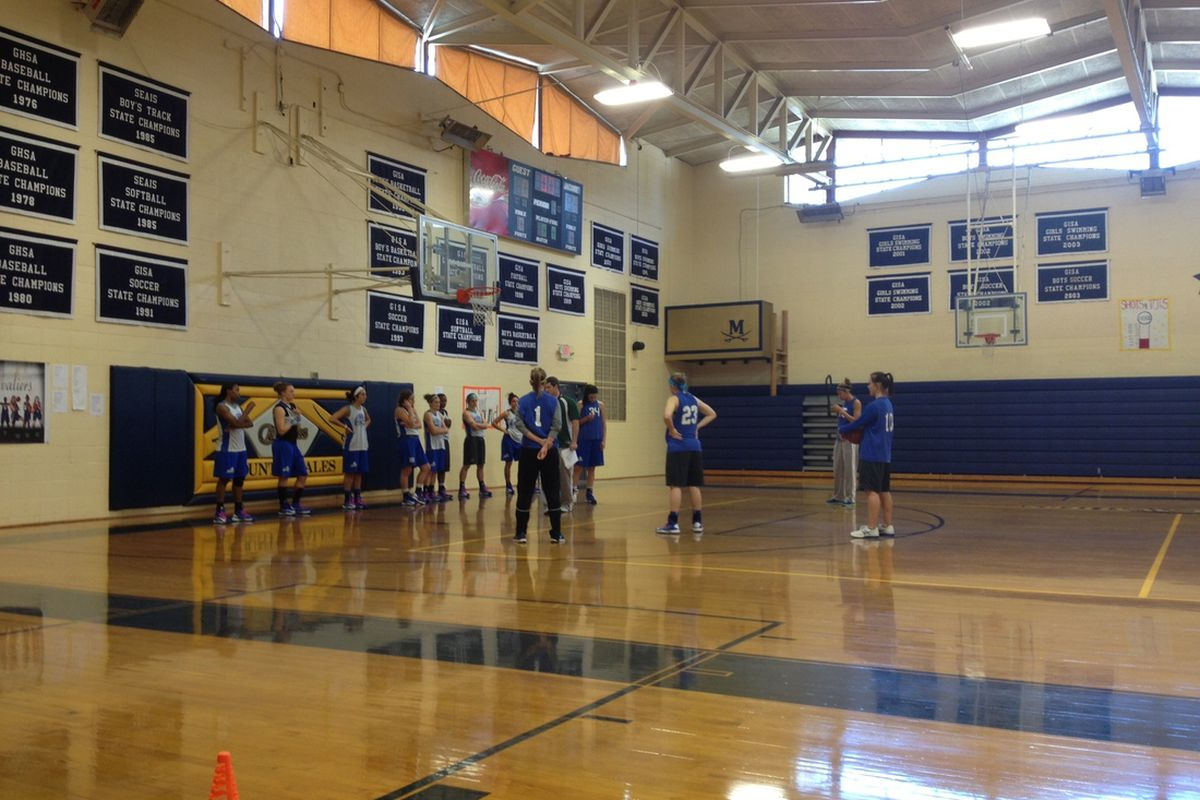 A photo from FGCU's practice today.