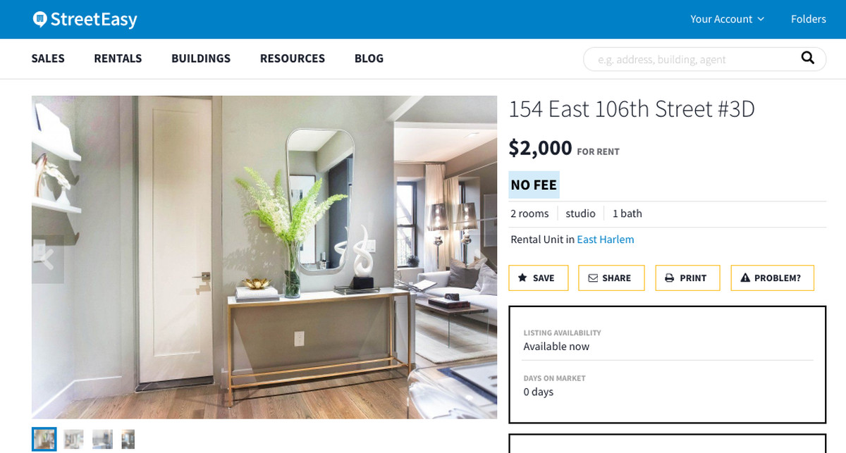 StreetEasy Set Itself Apart From Other Listings Aggregators With Its Clean Easy To Read Layouts Via