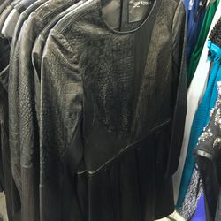 Patchwork leather dress, $500 (was $2,100)