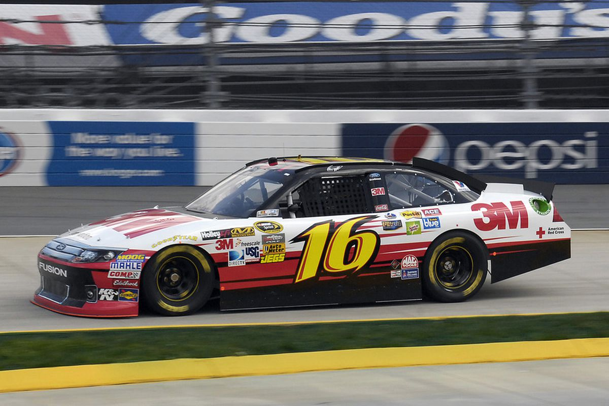 Mar, 31, 2012; Martinsville, VA, USA; NASCAR Sprint Cup Series driver Greg Biffle (16) during qualifying for the Goody