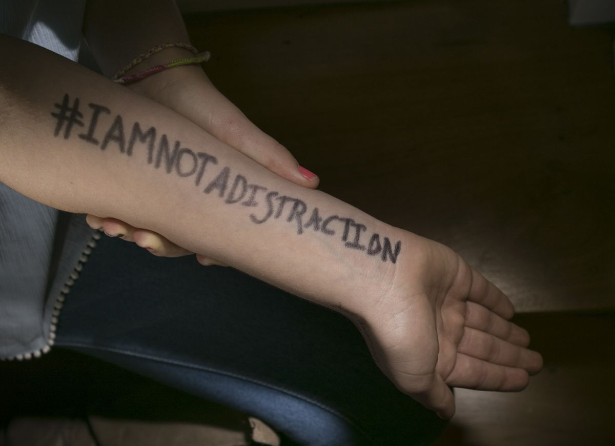 """""""I am not a distraction."""""""