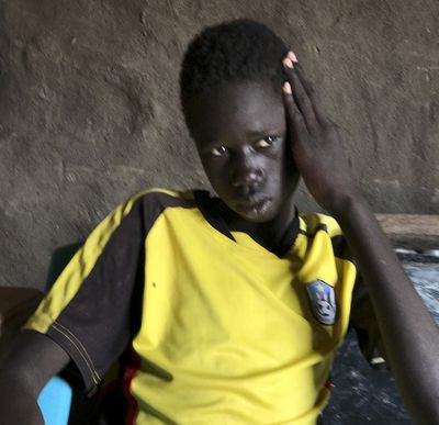 Marco Nuer in Thoahnam Payam, South Sudan, the village he fled to with his mother when their hometown was attacked. Marco's father, brother, and sister all died of hunger on the journey to get there.
