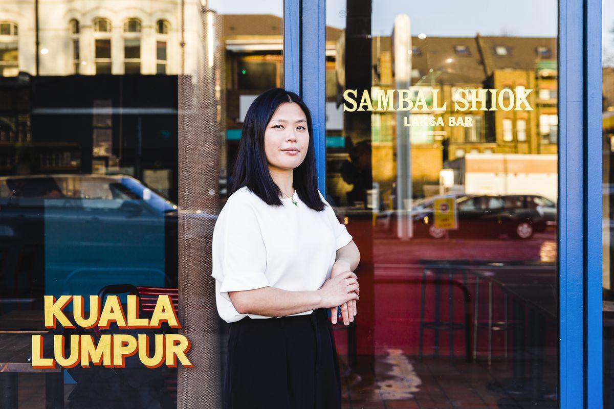 Chef and restaurateur Mandy Yin outside Malaysian restaurant Sambal Shiok on Holloway Road, north London