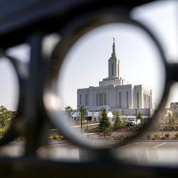 The Church of Jesus Christ of Latter-day Saints' Pocatello Idaho Temple in Pocatello, Idaho, is pictured on Monday, Sept. 13, 2021.Ground was broken for the temple in the spring of 2019.