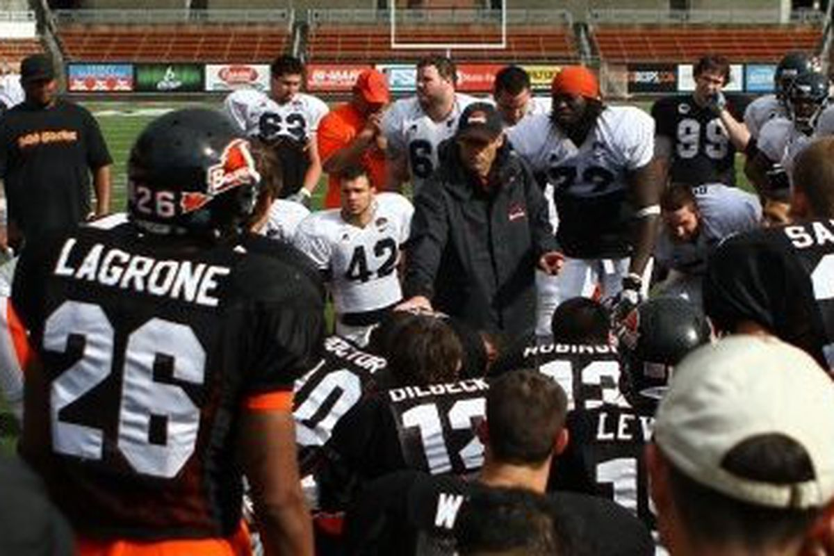 Oregon St. Coach Mike Riley has announced the schedule for the Beavers' pre-season practices, which begin Aug. 8.