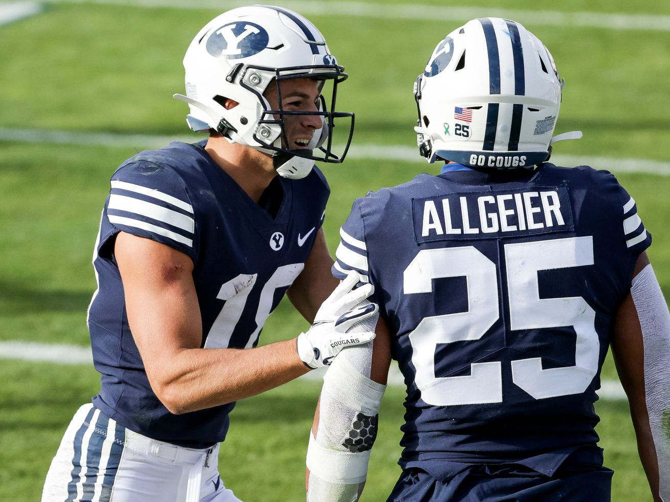 Running back Tyler Allgeier and receiver Gunner Romney are two of BYU's biggest offensive weapons in 2021.