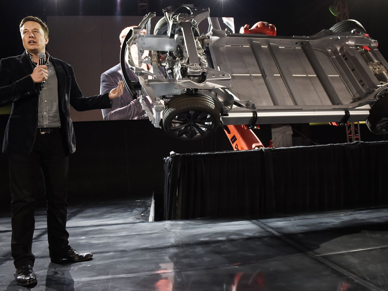 Elon Musk at an event in Hawthorne, California in October 2014.