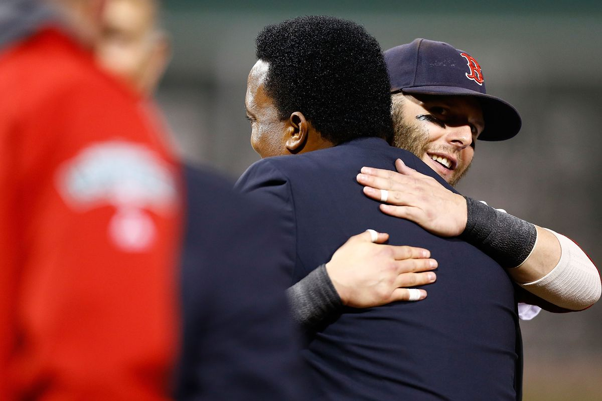 Pedro and Pedroia, where grit and heart and math can all agree.