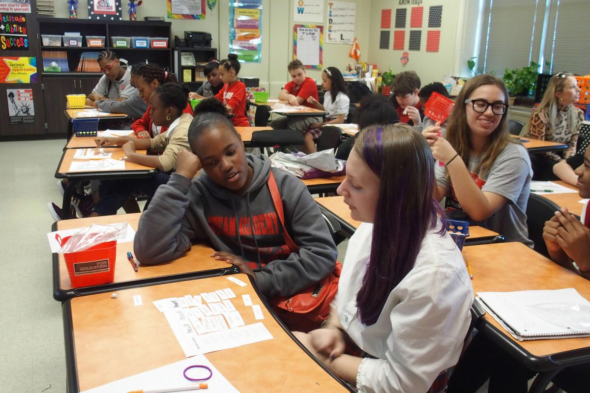 Students attend class at Maxine Smith STEAM Academy, one of the Memphis schools honored this year as a reward school.