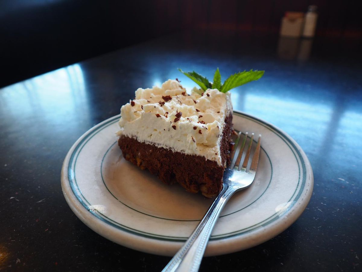 The chocolate pie from Monument Cafe