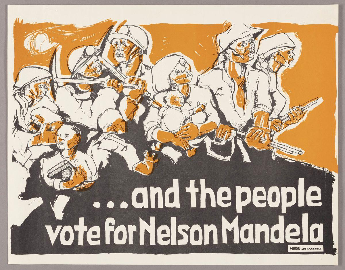 Medu Art Ensemble (Judy Seidman, American, born 1951). …and the people vote for Nelson Mandela, 1981. The Art Institute of Chicago, gift of Artworkers Retirement Society.   © Medu Art Ensemble
