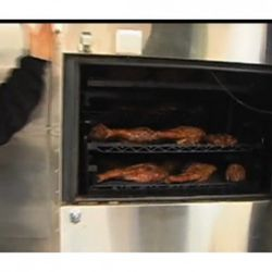 """The smoker at Fatty 'Cue (<a href=""""http://foodcurated.com/2009/12/fatty-cue-smoking-fat-heritage-breeds-malaysian-flavors-on-the-barbie/"""" rel=""""nofollow"""">Liza de Guia/Food Curated</a>)"""