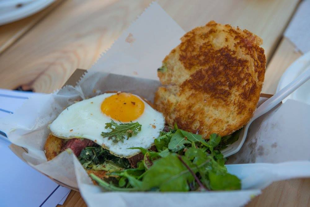 Breakfast sandwich at Paperboy