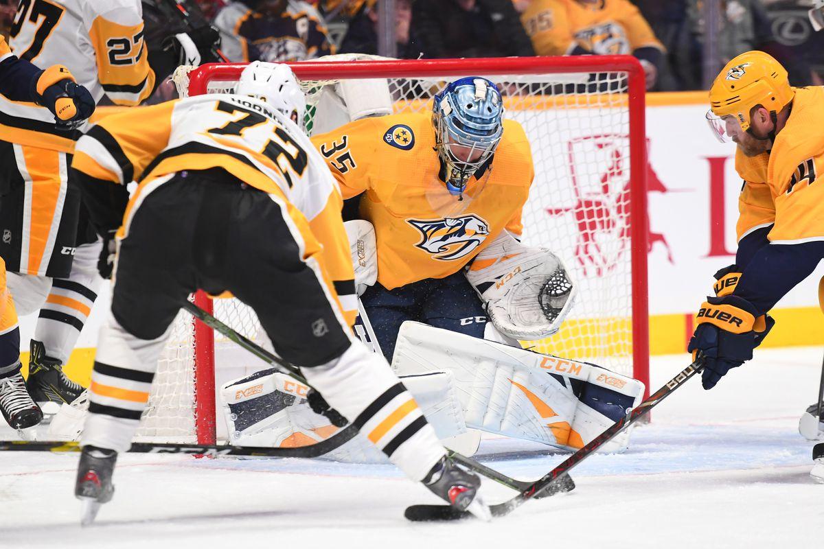 Pittsburgh Penguins 2 Nashville Predators 1 So Rinne Stellar