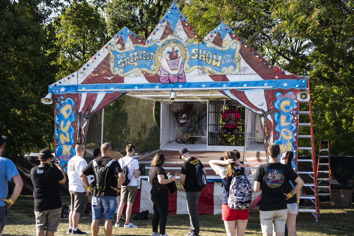 Fans enjoy carnival games in Douglass Park during Day 1 of Riot Fest, Thursday afternoon, Sept. 16, 2021.