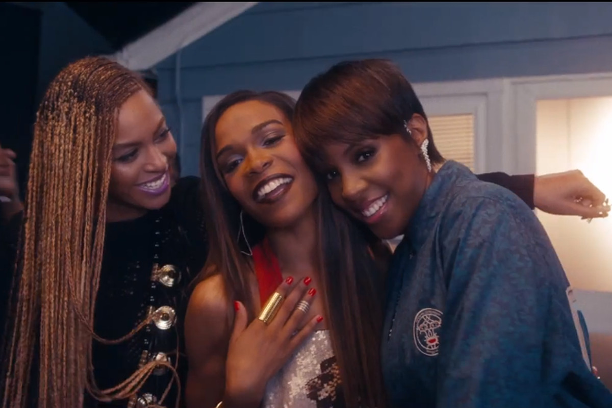 Beyonce, Michelle and Kelly reunited for a contemporary Christian song.