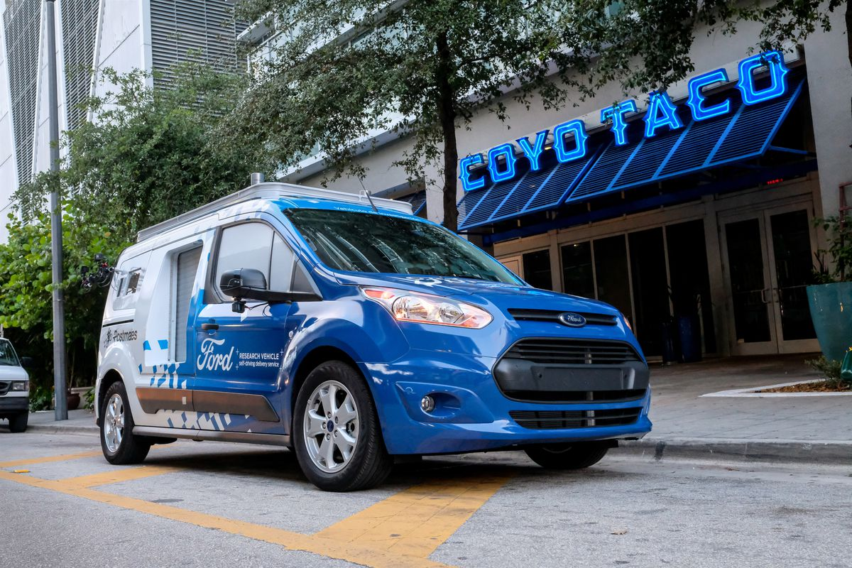 Fords Self Driving Vans Are Now Delivering Food In Miami The Verge C230 Challenger Circuit Breaker New Used And Obsolete Delivery Workers Some Of Most Overworked Underpaid People Us You Can Add Soon To Be Endangered That List
