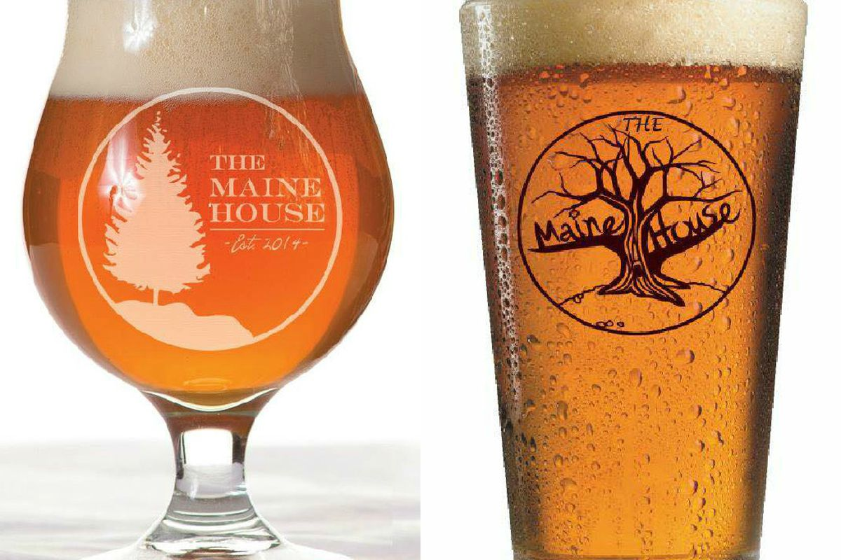 One refined and one gnarly design duke it out for the right to be The Maine House's official logo.