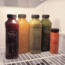 """Before I do anything else, I go downstairs to start my juice cleanse. I'm a juice nut. When I was a kid, my brother and I would run out to the garden and pick out whatever was ripe and we had the freshest juice ever. <b><a href=""""http://www.lovegracefoods."""