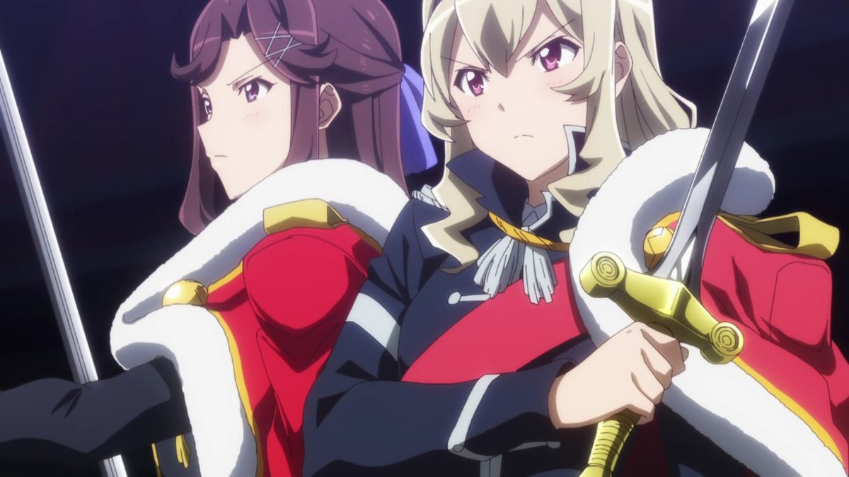 Revue Starlight - two people holding swords