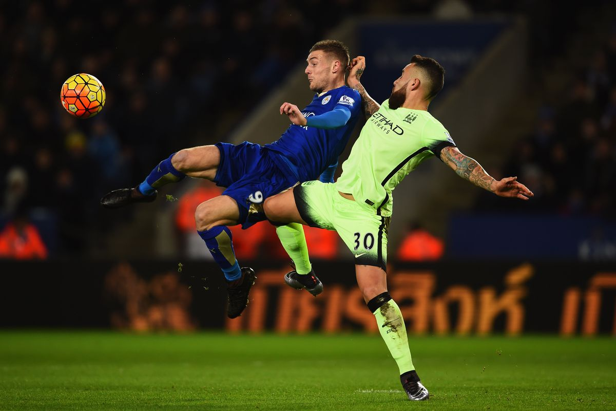 Manchester City will have their hands full trying to slow down Jamie Vardy