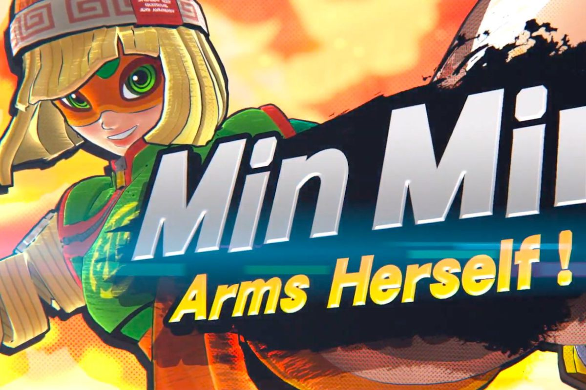 Artwork of Min Min from Arms for Super Smash Bros. Ultimate