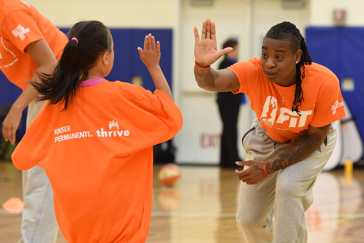 2015 WNBA Fit All-Star Clinic presented by Kaiser Permanente