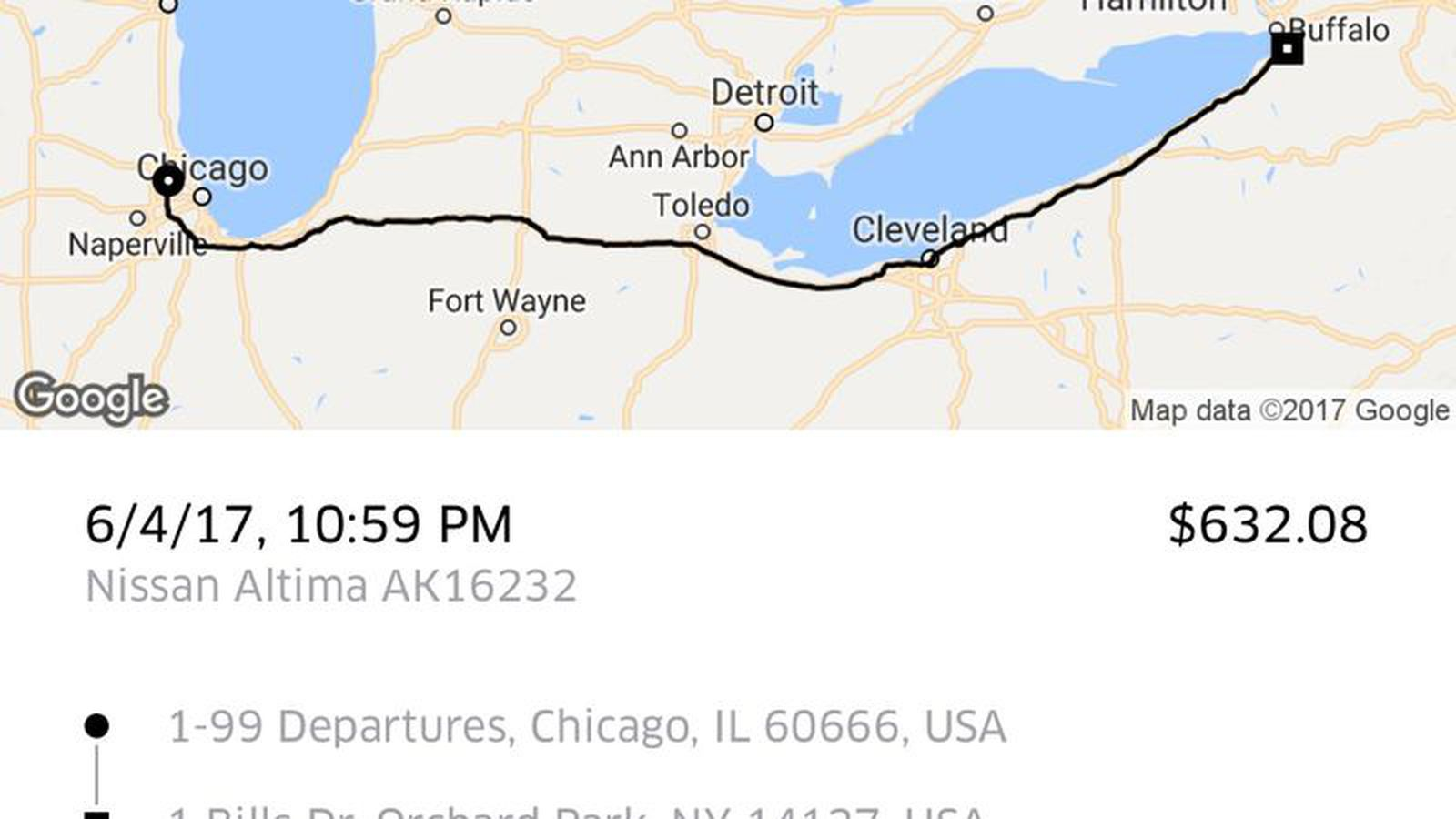Uber Driver Thought He Was Taking Shareece Wright To Buffalo Wild - Uber heat map us