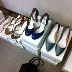 Maison Martin Margiela shoes. Don't get too excited, they're all size 39 and up.