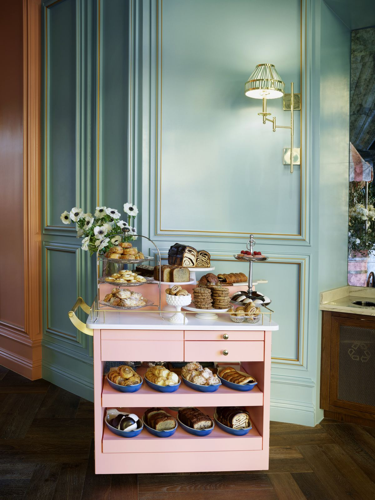 The pastry cart at Sadelle's