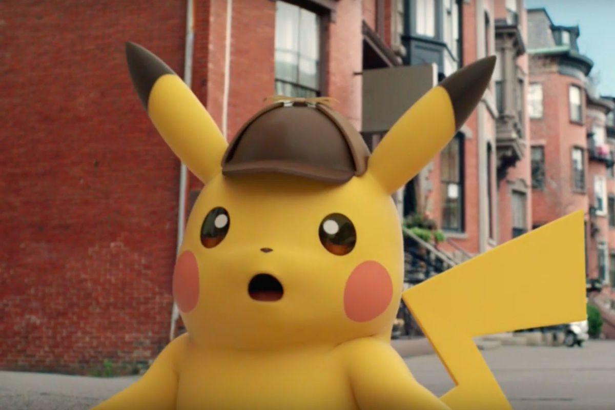 Detective Pikachu - CG Pikachu surprised face