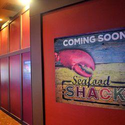 The exterior wall at Seafood Shack.