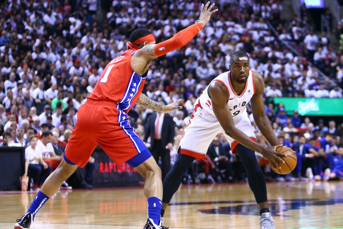 huge discount 6e940 6552e 2019 NBA Playoffs: Serge Ibaka helped save the Raptors in Game 7 ...