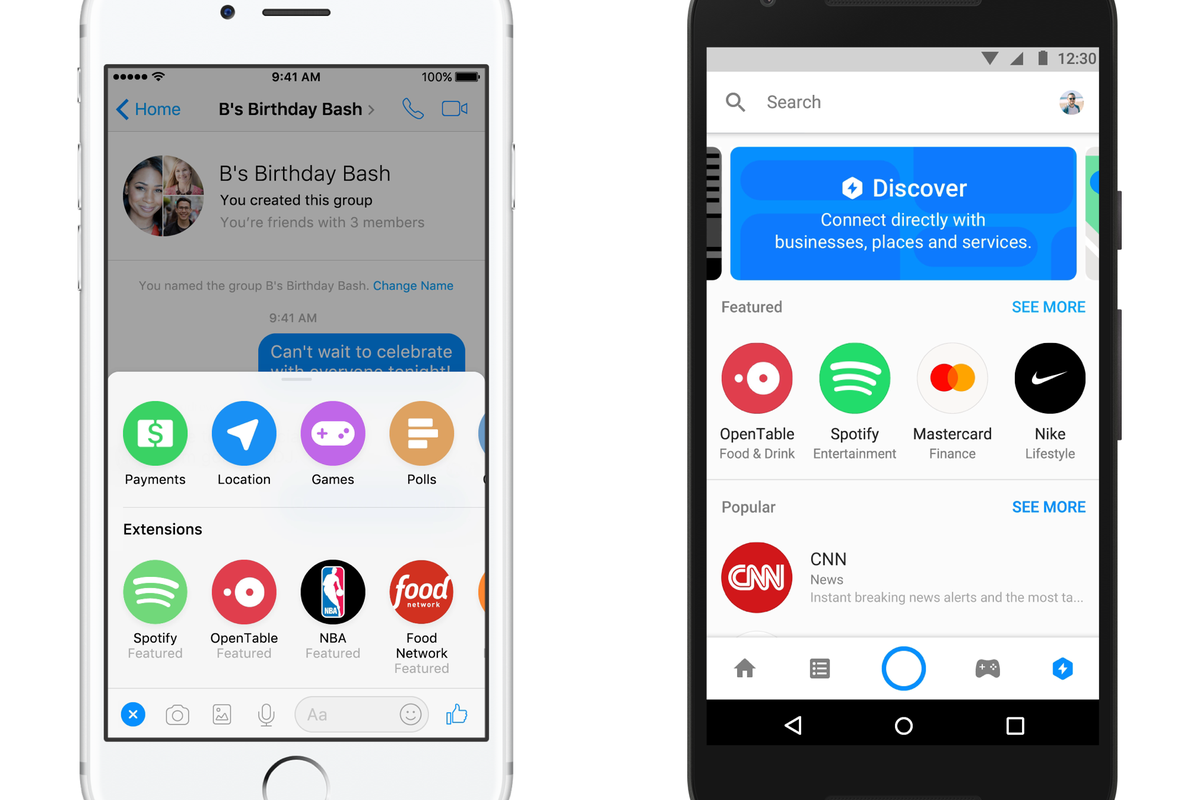 Facebook Messenger adds app extensions and a bot store - The