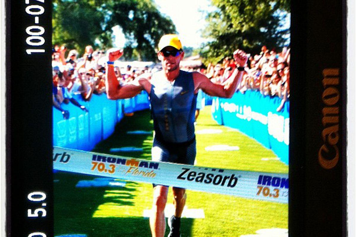 """Hooray, I did it!"" -- Lance Armstrong, probably (via the excellent <a href=""https://twitter.com/#!/LizKreutz/status/204223764093865984"" target=""new"">@lizkreutz</a>)"