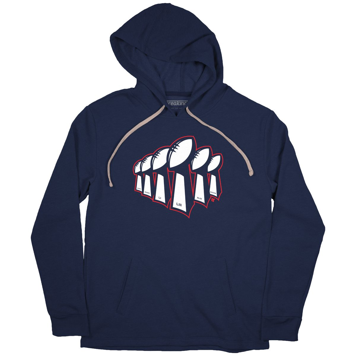 3aba8bd34 ... Super Bowl sweatshirt and jacket. I Just Like Winning Hoodie for  48  BreakingT. New England 6x Champs Hoodie for  48 BreakingT