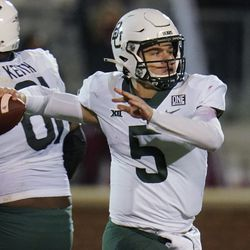 Baylor quarterback Charlie Brewer prepares to throw a pass during the first half of the team's NCAA college football game against Oklahoma in Norman, Okla., Saturday, Dec. 5, 2020. For the second straight year, the Utes entered fall camp undecided on who will be the starting quarterback. The battle to lead the offense turned into a two-man race between Baylor transfer Charlie Brewer and redshirt sophomore Cameron Rising, with Brewer ultimately earning the starting nod.