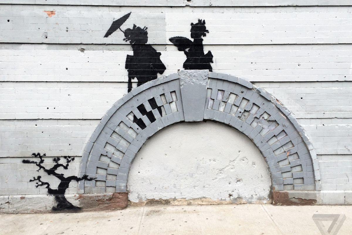 Banksy Geisha Bridge NYC (Sam Sheffer)