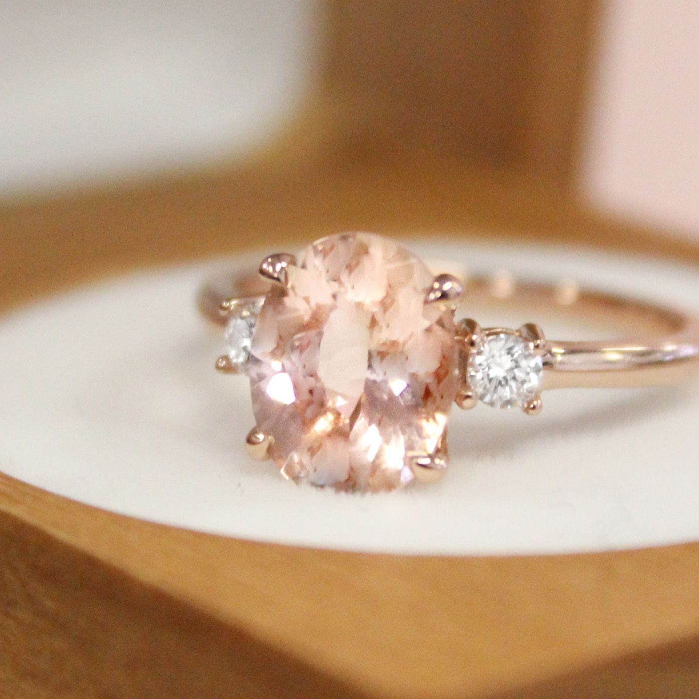 What Is Morganite The New Diamond Alternative Engagement Ring Trend Vox