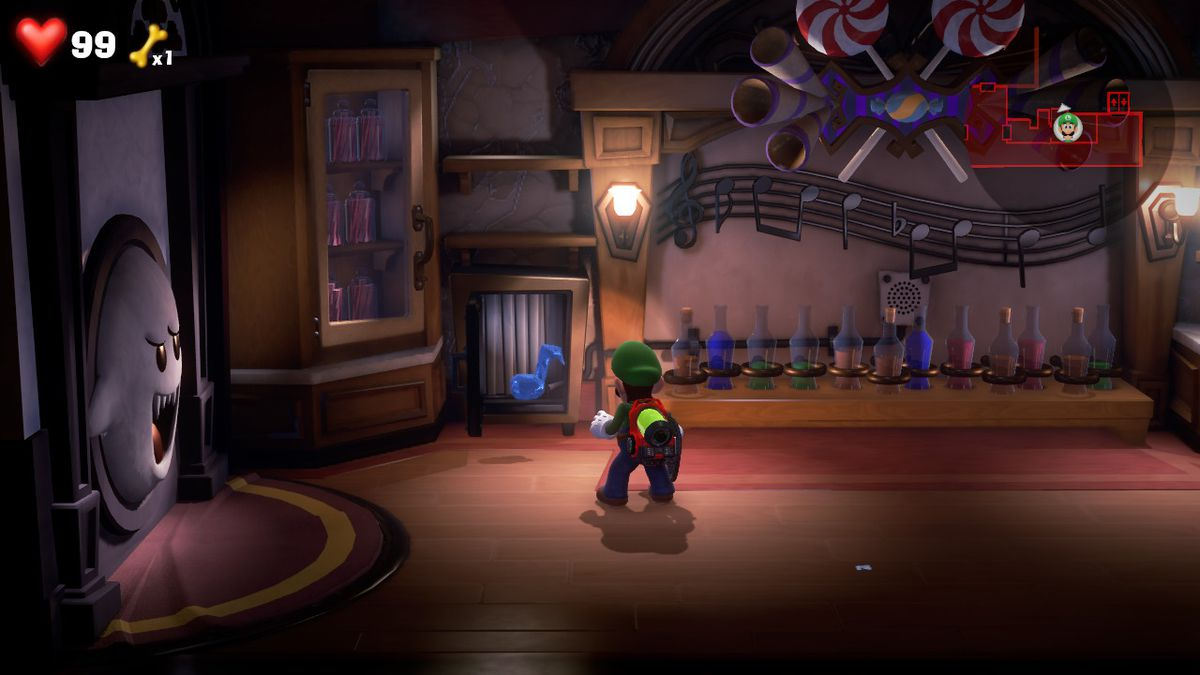 Luigi's Mansion 3 4F CONCESSION STAND [BLUE GEM] safe open