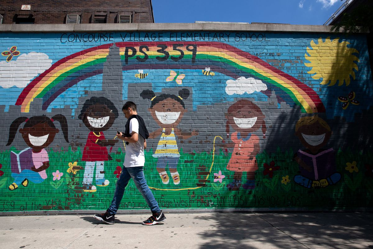 A mural on PS 359 in the South Bronx.