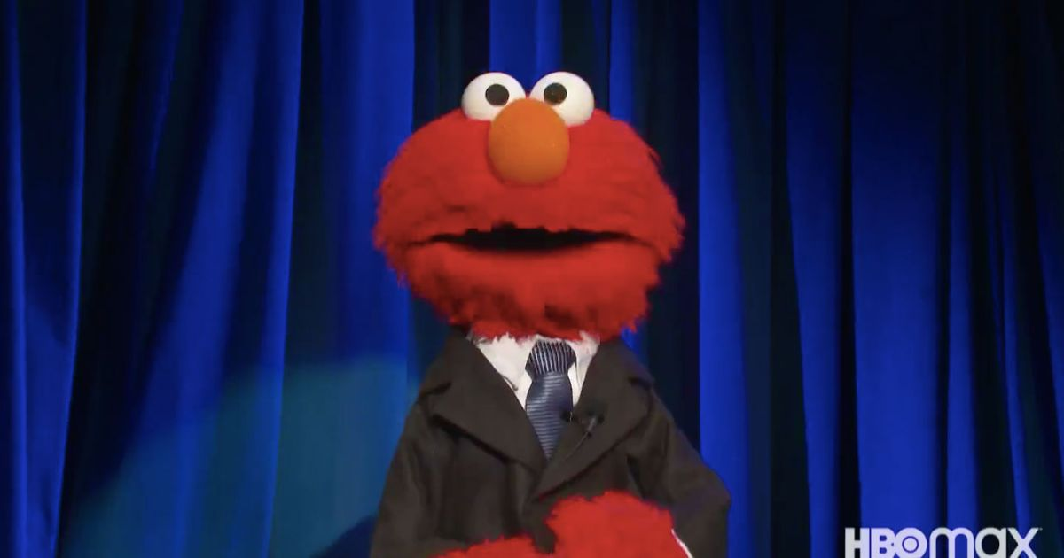 elmo in a suit