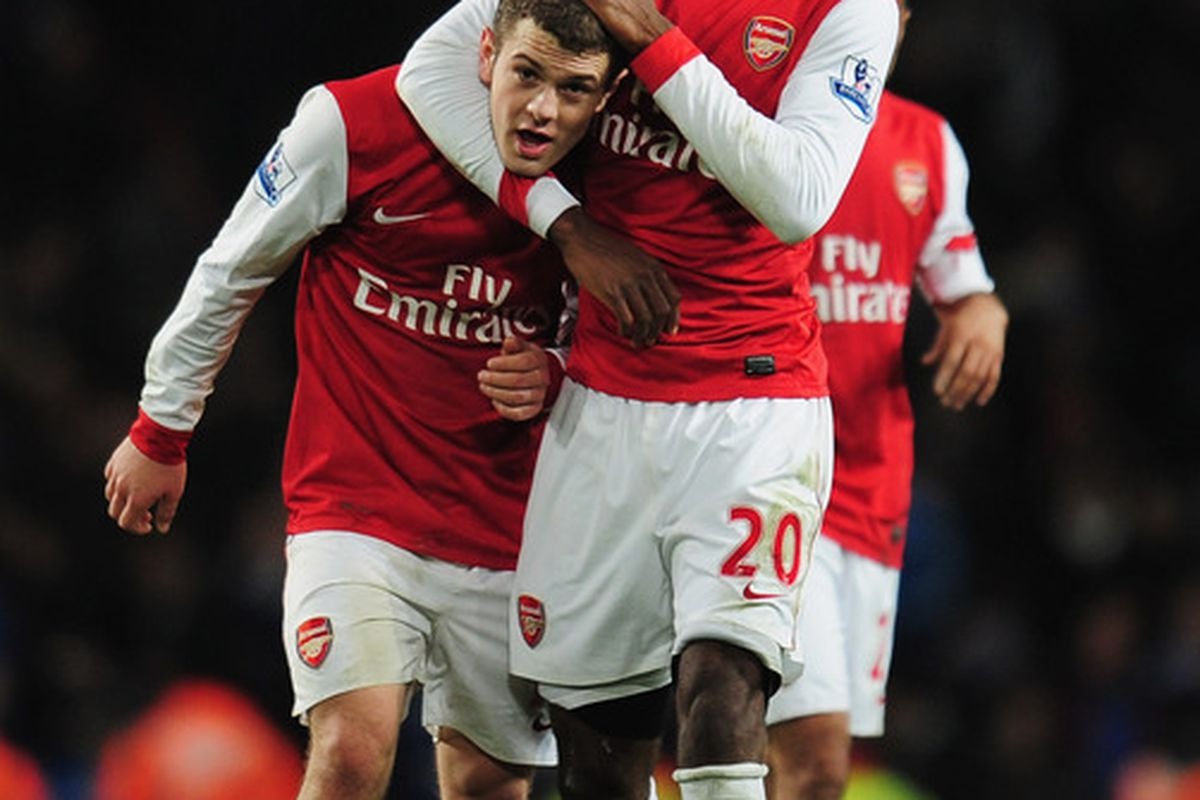 They opened up his shoulder, and they found Jack Wilshere!