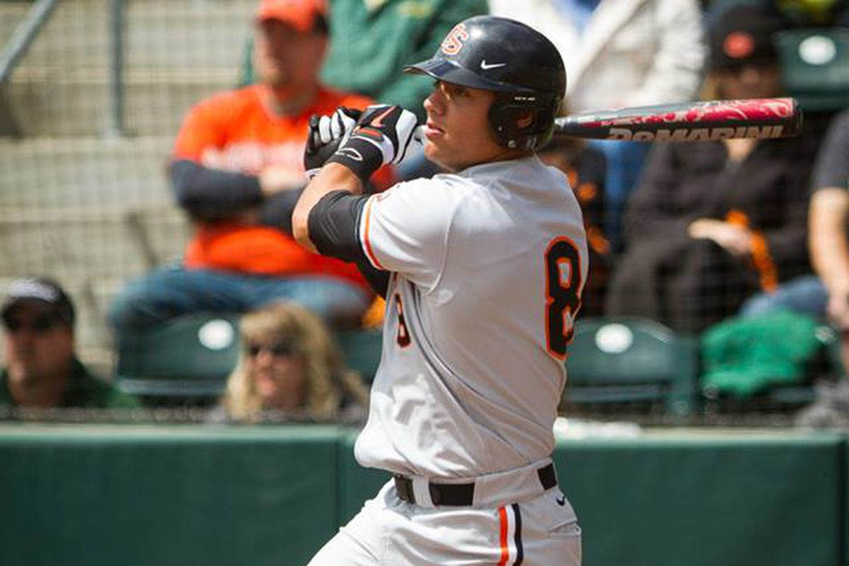 Michael Conforton homered twice against Oregon this weekend, including today's grand slam.
